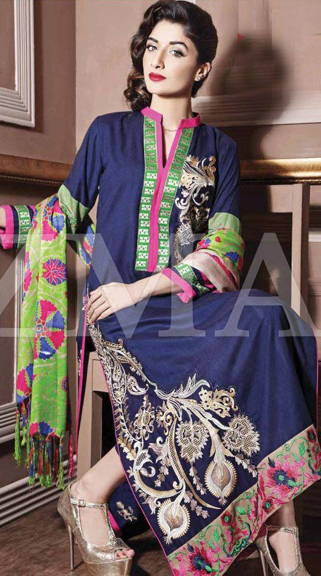 Navy Blue Linen Salwar Kameez Dress 99 99 Designer Winter