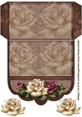 Printable Rose Money Wallet