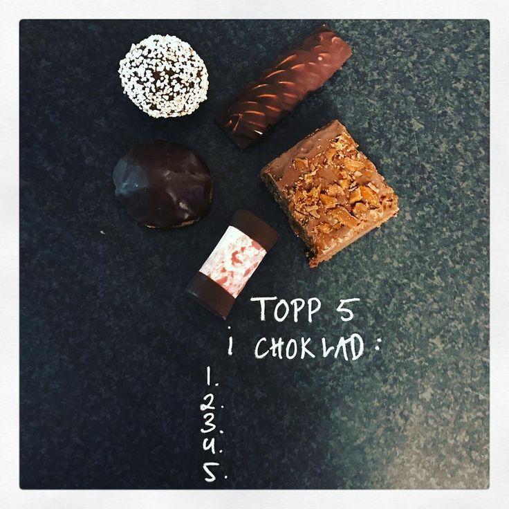 Chokladboll, skumraket, brownie med tryffel & egen daim, dammsugare eller chokladbiskvie.