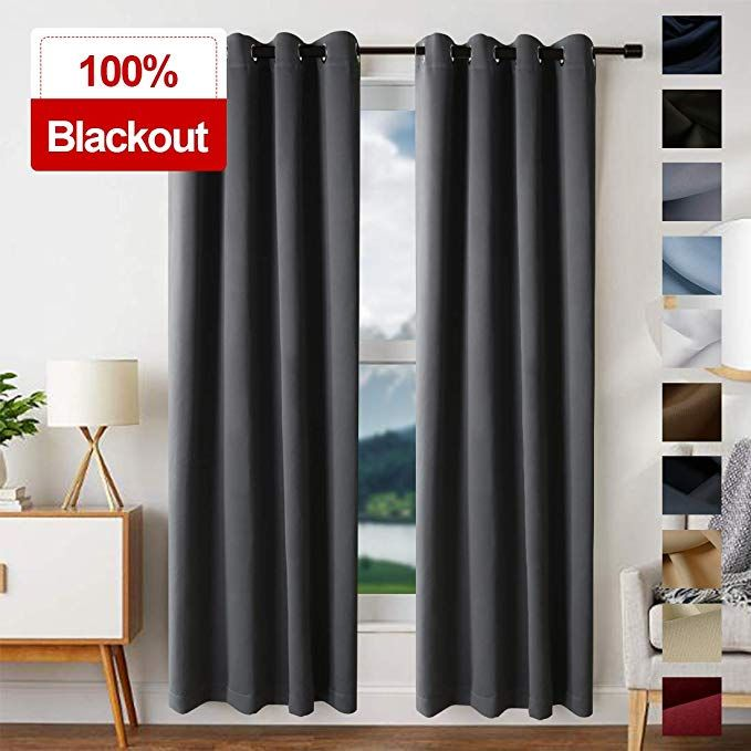 Edilly Blackout Curtains For Living Room Easy Care Solid Thermal Insulated Grommet Room Da Curtains Living Room Window Treatments Living Room Blackout Curtains #thermal #living #room #curtains