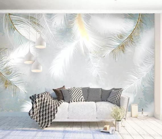 3d Soft Feathers Gngn585 Wallpaper Mural Decal Mural Photo Sticker Decal Wall Self Adhesive Wall Art Design 3d Printed Removable Wallpaper Mural Wallpaper Adhesive Wall Art Home Wallpaper