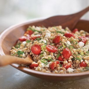 Farro Salad with Ricotta [or Feta] YUM!! I've made this twice and love ...