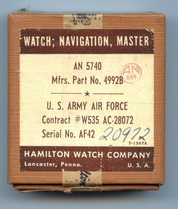Hamilton Watch Company boxed