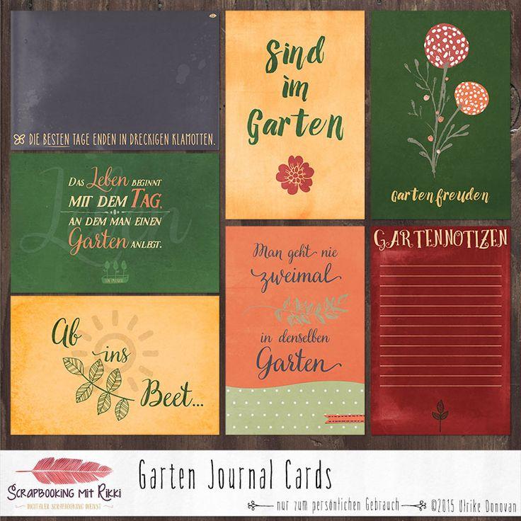 Fancy Deutschsprachige Journaling Karten zum Thema Garten