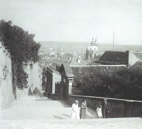 Prague, Castle Stairs by J.Bruner-Dvořák, cca 1930