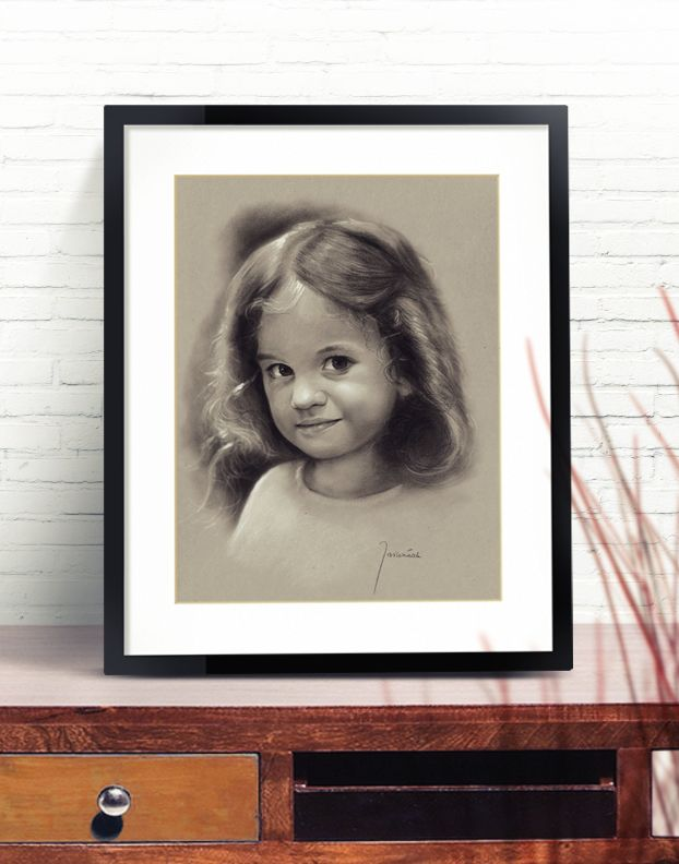 Portrait of a girl child / A3 format