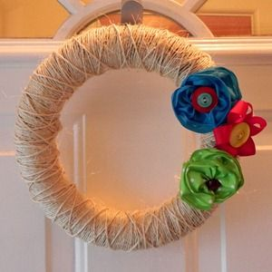 Haha. use the Faze-bee  Simple DIY summer wreath. I think I like this one even more! So CUTE.