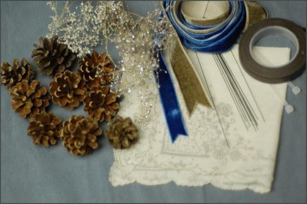 DIY bridesmaid bouquets | DIY Pinecone Wedding Bouquet - Once Wed