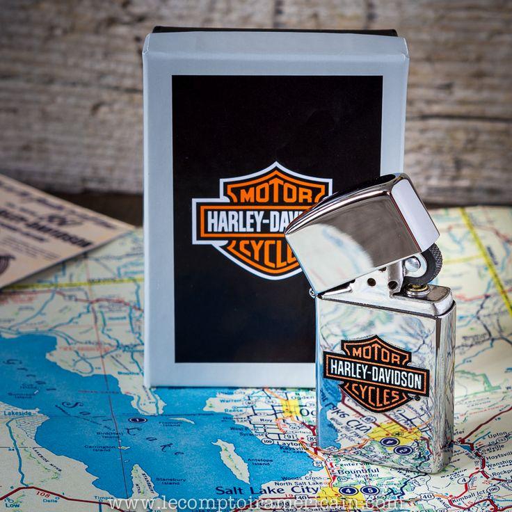 Zippo HARLEY-DAVIDSON SLIM #lighter #Harley #HD #Briquet #Zippo #motorcycles #moto #Vtwin #madeinUSA #americanproduct #Bradford #americandesign #hydra #lecomptoiramericain #Electraglide #883 #HD #SaltLakeCity #bonneville #UTHA