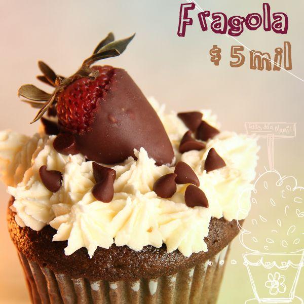 Fragola (fresa en italiano) con chocolate, una deliciosa opción para las mamás amantes a las combinaciones.