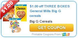 general mills big g cereals list