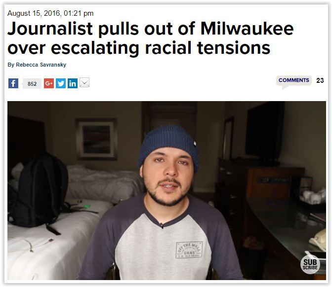 """#Racism at its finest in #Milwaukee. #Rioters attacking #white folk or who they perceive to be """"white"""". At some point in time 'white folk' no longer represented only Anglo Saxon, it now includes any race that is not black. #Liberals tossed #Hispanics into the 'white group' during the #TreyvonMartin trials. #Asians were tossed into the 'white group' during the #PhilandoCastile shooting…"""