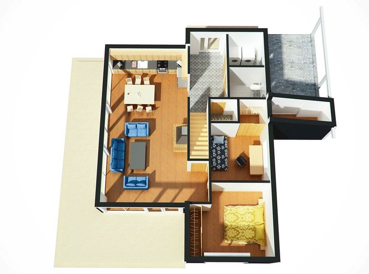 Open Plan in a Birds Eye View House Plans Pinterest Open