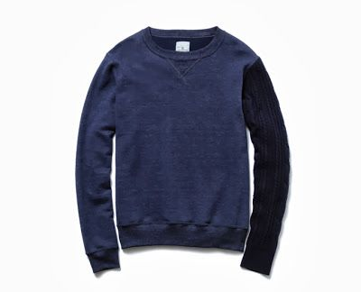 WEAR DIFFERENT: Uniform Experiment SLEEVE CABLE KNIT CREW NECK SWEAT UNIFORM EXPERIMENT SOPH TOKYO