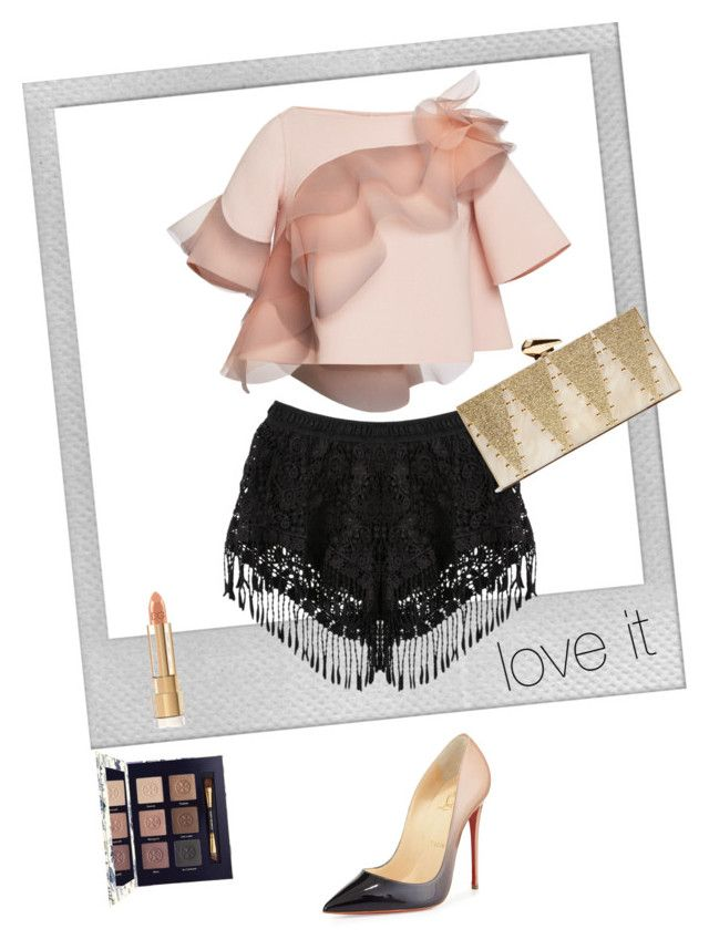 """love it!"" by denise-h-benavides ❤ liked on Polyvore featuring Marc Jacobs, Polaroid, Tory Burch, Christian Louboutin, KOTUR, women's clothing, women's fashion, women, female and woman"