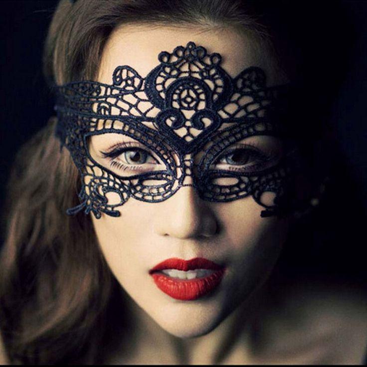 Black Lace Halloween Mask