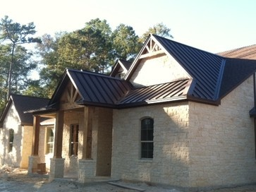 Metal roof texas ranch and house styles on pinterest for Metal roof ranch house