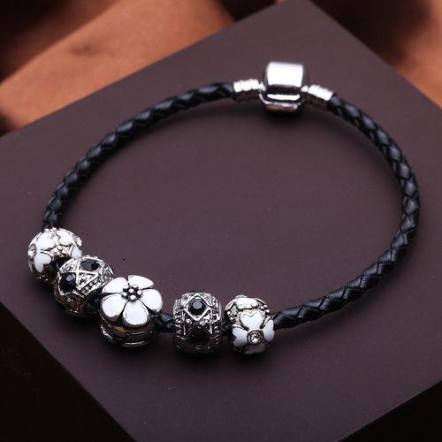 Новинка 925 серебряных шарм Fit пандора браслет кожа для женщин мода бижутерия PS3165 купить на AliExpress