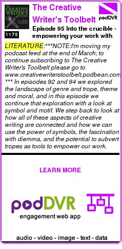#LITERATURE #PODCAST  The Creative Writer's Toolbelt    Episode 95 Into the crucible - empowering your work with symbol dilemma and innovation    READ:  https://podDVR.COM/?c=75246424-5b02-a892-c333-c0eb348705f4