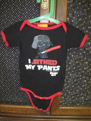 Family Guy, Star Wars, Stewie as Darth Vader-Baby Onesie 12-18 mnths