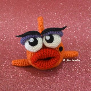 Kim Lapsley Crochets: Marilyn the Fancy Fish. ☀CQ #crochet #amigurumi  http://www.pinterest.com/CoronaQueen/crochet-amigurumi-corona/