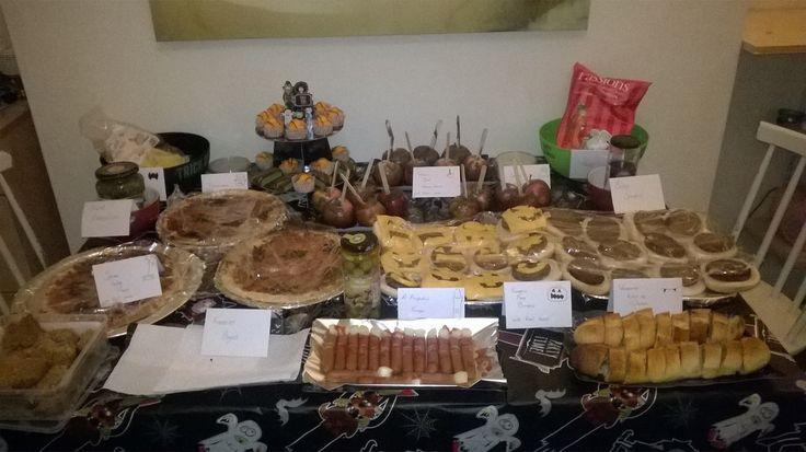 Halloween buffet