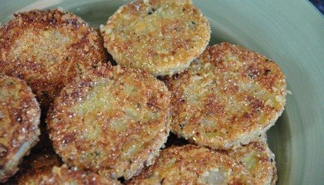 Fried Tomatoes with Parmesan
