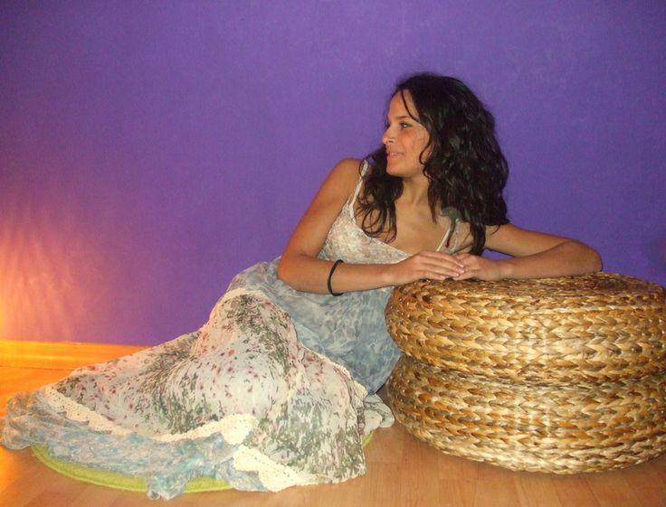 Anna in Twin Set- Simona Barbieri romantic dress