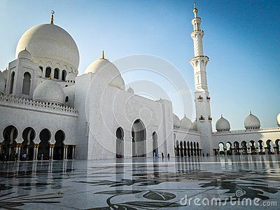 Abu Dhabi, December 2017: Sheikh Zayed Mosque in Abu Dhabi UAE after Asr Prayer.