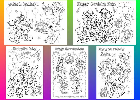 Pony Coloring Pages Pony Birthday Party Favor Coloring Etsy My Little Pony Coloring Pony Birthday My Little Pony Birthday Party