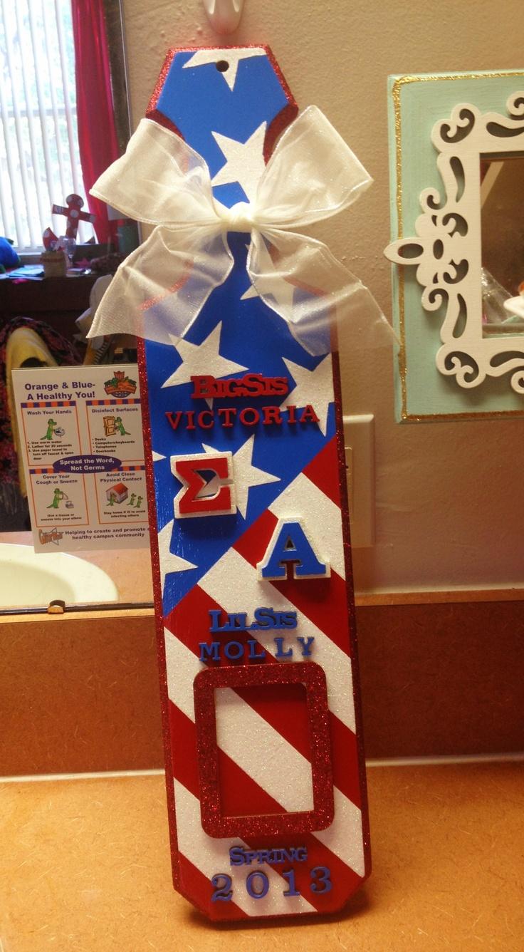 Sigma Alpha America sorority paddle
