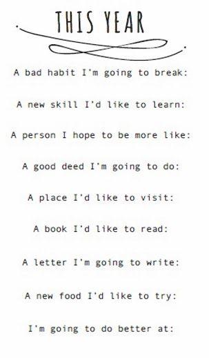 Resolutions :)