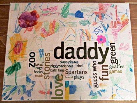 Father S Day Wordle Canvas Collage Gifting Is Good