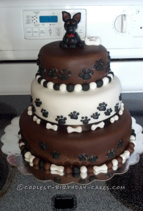 Coolest Birthday Cake for a Dog Lover ... This website is the Pinterest of birthday cakes