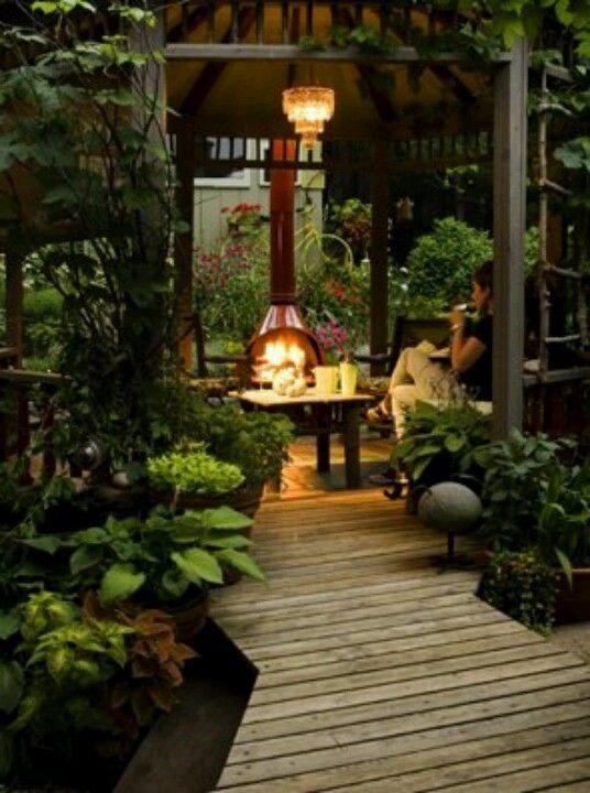 Fireplace fireplace pinterest terrazas caba as de for Cabanas para jardin