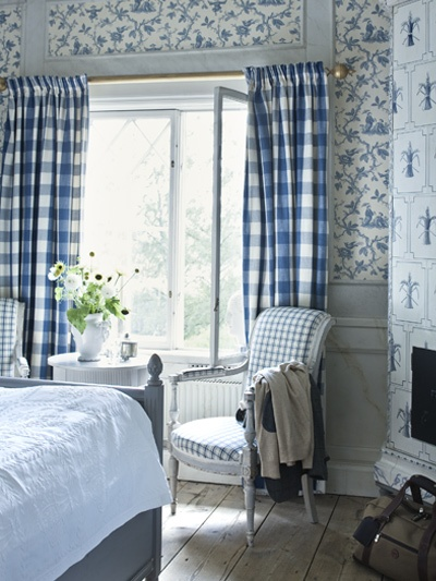 491 best images about glorious gingham on pinterest for French blue bedroom design