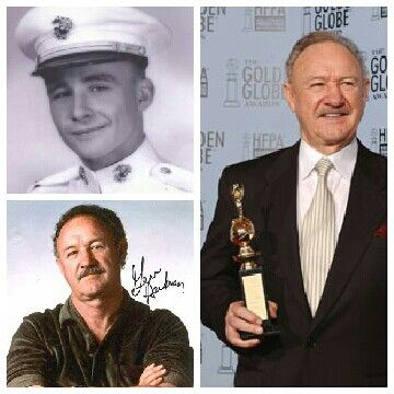 "Eugene Allen ""Gene"" Hackman (born January 30, 1930) is a retired American actor and novelist. At sixteen years, Hackman left home to join the United States Marine Corps, where he served four-and-a-half years as a field radio operator overseas in Shanghai, Japan, and Hawaii.  Though honorably discharged in 1952, he was busted down from corporal three times during his term of service."