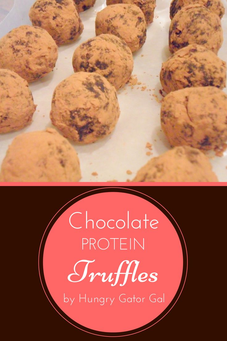 Chocolate Protein Truffles from Hungry Gator Gal (Raw, Vegan, Gluten-Free, Dairy-Free, Low-Carb, No-Sugar-Added)