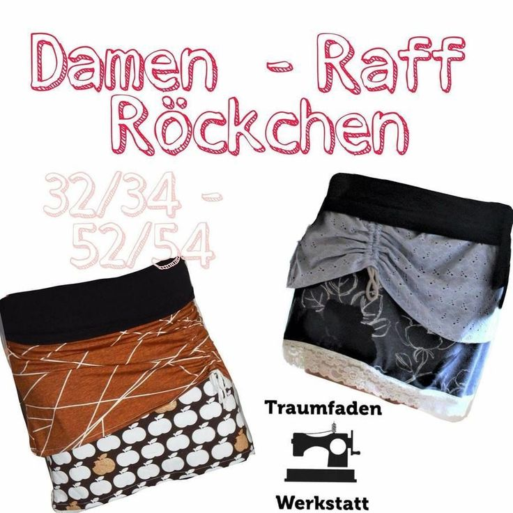 Damen - Raff - Rock Gr. 32/34-52/54 bei Makerist