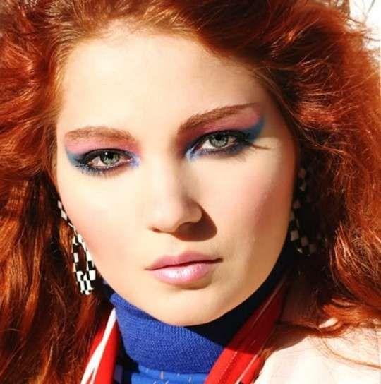 Maquillaje años 80: Fotos tendencias P/V 2014 - Maquillaje años 80 P/V 2014: Sombra ojos de gato