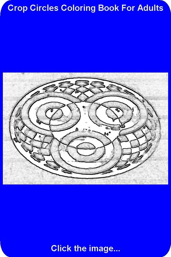 Solution For Drawing Number 1 Of 100 From The Crop Circles Coloring Book Vol 1 Now You Can Get Away From Stress By Coloring This Crop Circle With Your Own Set In 2020