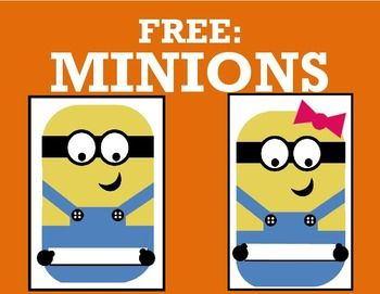 This is a free product for anything from bulletin boards to door designs! I used these for a door design in the beginning of the year, and I'm giving them out for free!There is a boy version and a girl version, and PDF and Word designs of each. I recommend using a text box to put the child's name on the minion.Thanks for checking out my product!