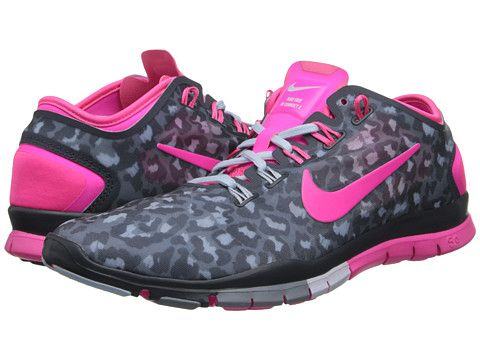 nike womens free tr connect 2 training shoes pink cheetah cake