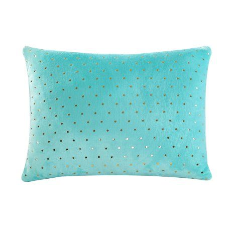 Mainstays Kids Foil Dot Jumbo Mint Pillow