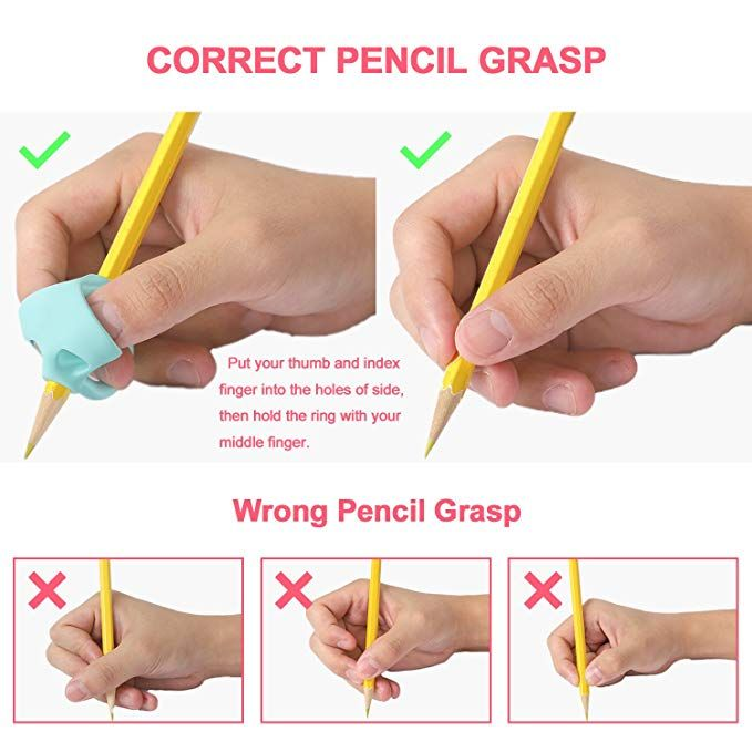 10 Pieces Pencil Finger Pen Grips for Children Adults Holder Posture Correction Writing Aid