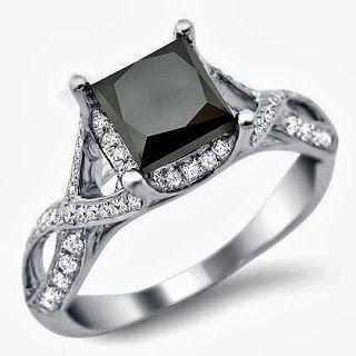 Black Diamond Engagement RingStore Diamond Engagement RingDiamond Engagement Ring