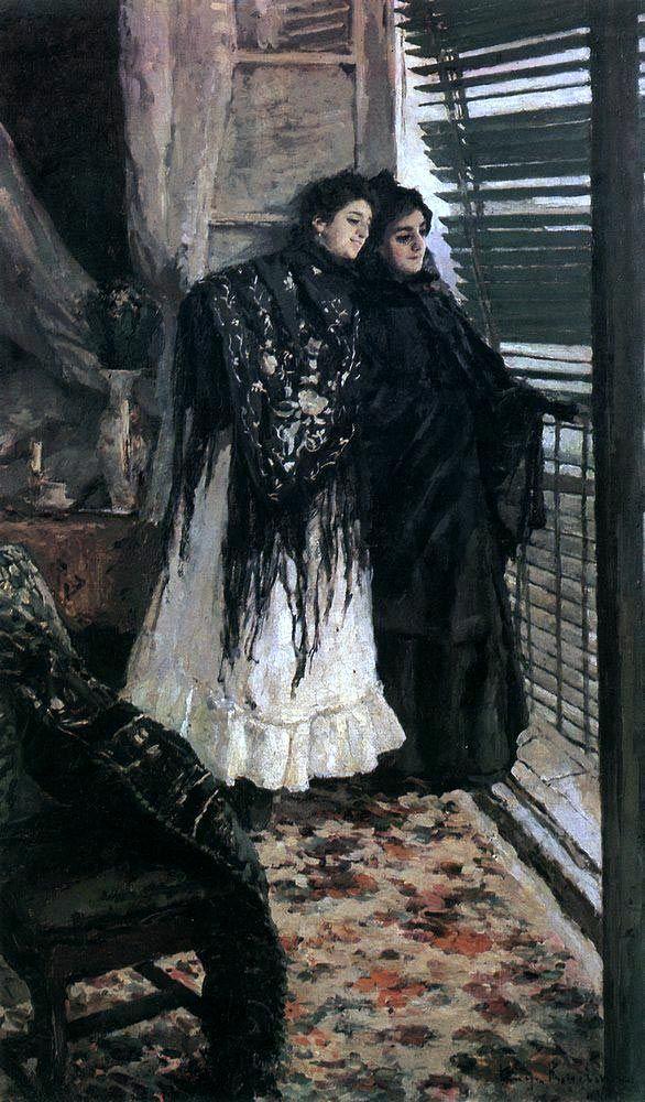 Константин Коровин «У балкона. Испанки Леонора и Ампара». Описание картины