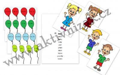 Balónky s dětmi- měkké a tvrdé souhlásky