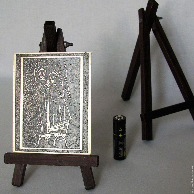 Купить миниатюра - латунь-, лак, дерево, сталь, миниатюра, мольберт, мини мольберт, травление, стиль