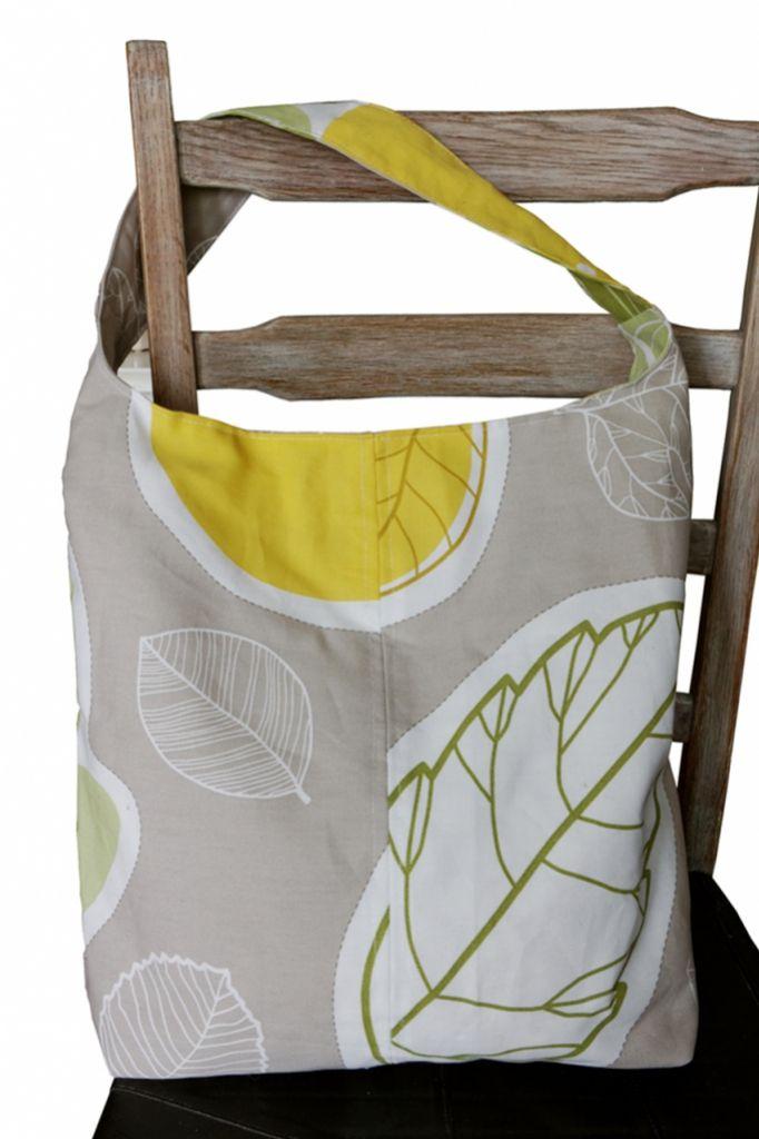 torba tekstylna na ramię, torba shopperka - dom artystyczny wystrój wnętrz tkaniny dekoracyjne, patchwork